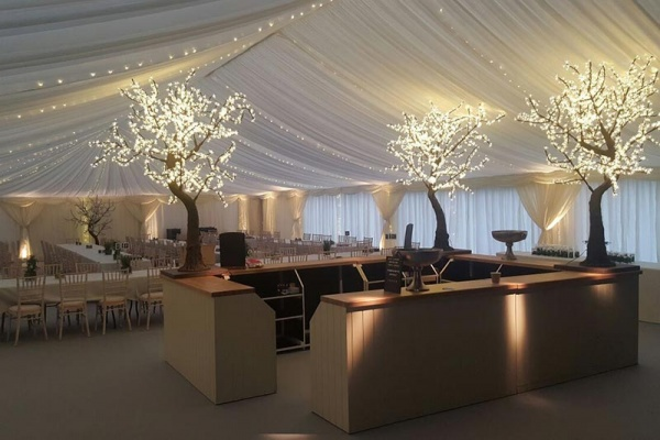 Wedding marquee in winter } Lewis Marquees