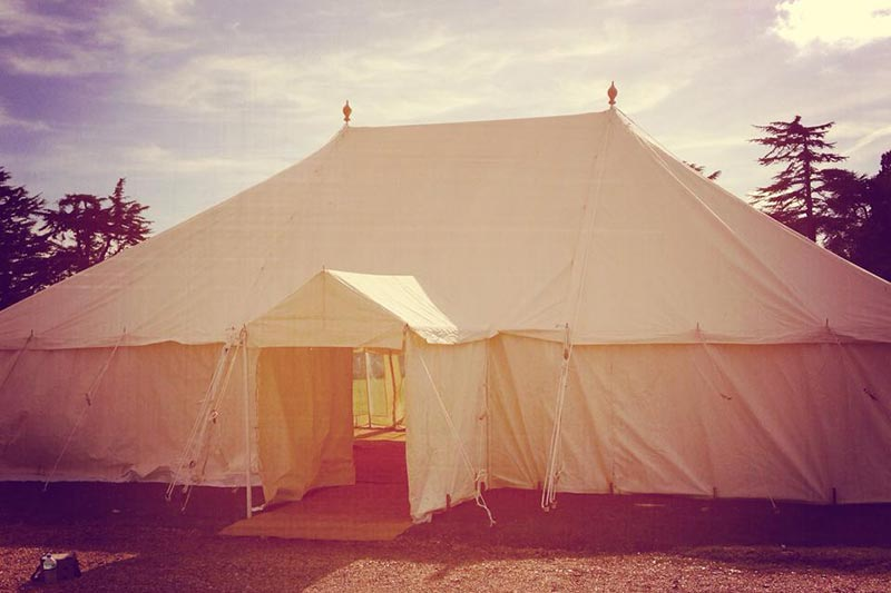 Marquee in field in summer | Lewis Marquees