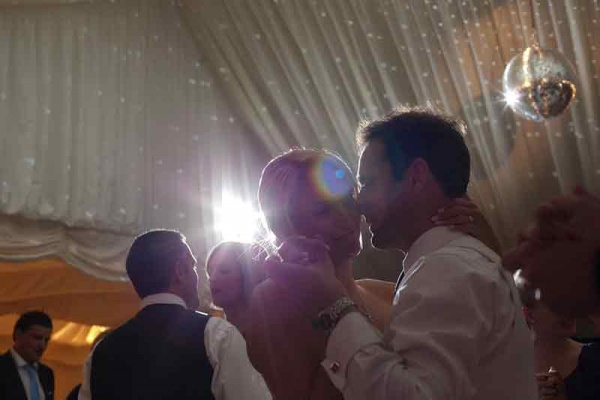 Wedding couple dancing in marquee | Lewis Marquees