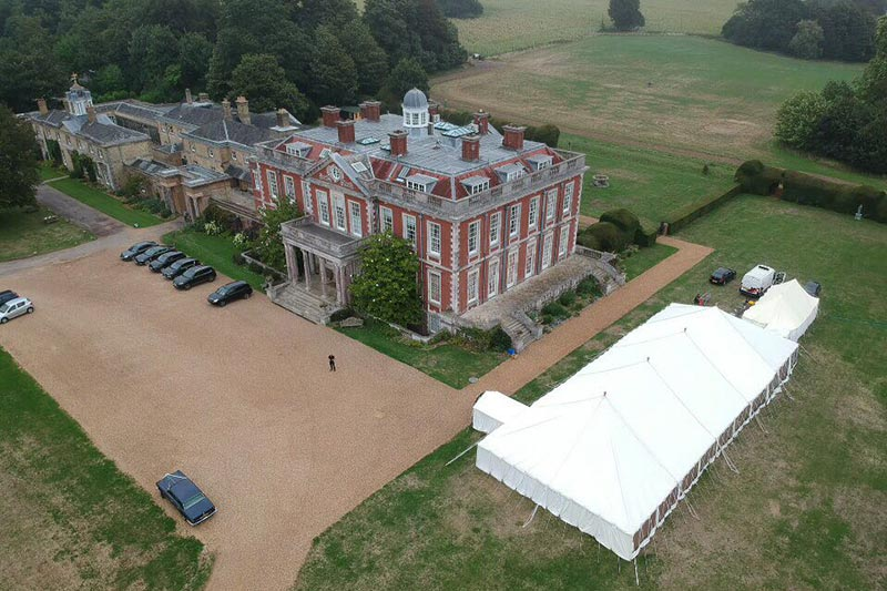 Marquee hire at Stansted House, Hampshire | Lewis Marquees