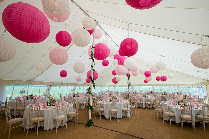 Decorating your wedding marquee | Lewis Marquees