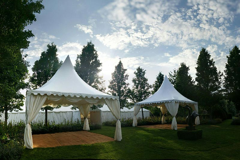 Chinese hat pagoda marquees | Lewis Marquees