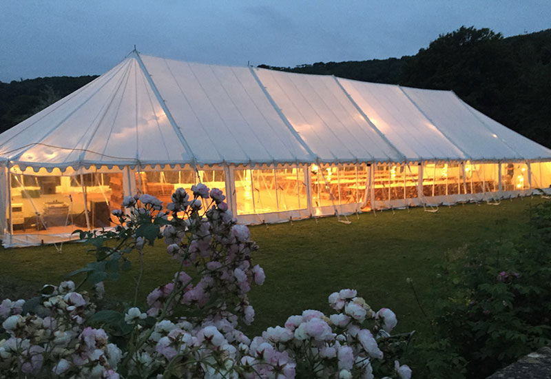 Traditional marquee for an evening party