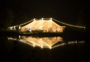 Night time marquee lighting
