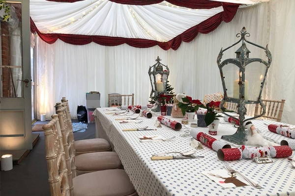 Christmas House Extension Marquee | Lewis Marquees