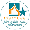 Marquee Hire Guide Star Supplier badge