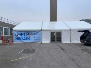 Help NHS Hereos Frame Marquee Hospital | Lewis Marquees